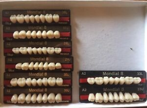 Mondial 8 Eight Full Cards Of Teeth For Dental Lab Materials