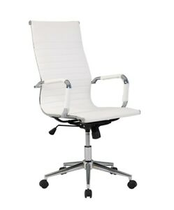 Belleze Modern High back Ribbed Upholstered Conference Office Chair