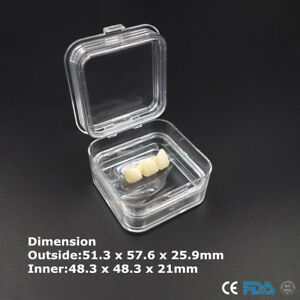 Dental Complete Denture Protector Jewelry Box With Film Membranes