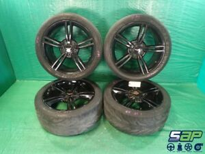 1998 Chevrolet Corvette Oem Black Wheels Tires Rims Set 18x8 19x10 C5 Ls1 Gm A65
