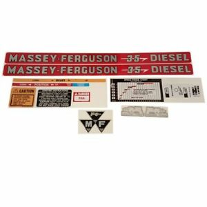 Decal Set For Massey Ferguson 35