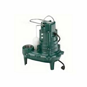 Zoeller 1 2 Hp Automatic Submersible Sewage Pump 115 Voltage 50 Gpm