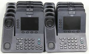 Lot Of 10 Cisco Unified Ip 8945 4 line Voip Video Conference Phones