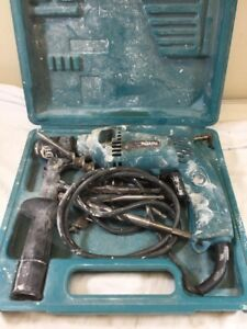 Makita Hp1501 Hammer Drill With Case And Attachments