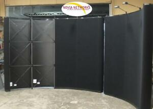 Lot Of 2 Skyline Trade Show Full size Displays 10 92 8 92 With Cases