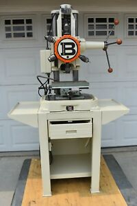 Used Burgmaster 1 d Turret Drill With Enco 84444 Xy Table With Swivel Base