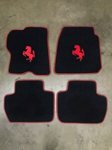 Ferrari Ff Custom Car Floor Mats Red Horse Logo W Red Edging Carpet Quality
