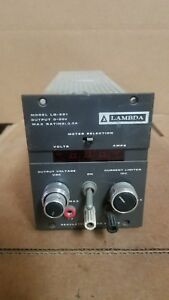 Lambda Lq 521 Dc Power Supply Good 0 20v 3 3a