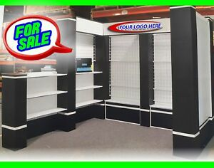 Trade Show Booth Display Custom 10 X 10 Multi 5 Section Infinity Exhibits