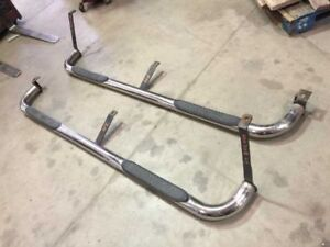 04 Silverado Sierra Used Pair Right Left Chrome force Running Boards Steps