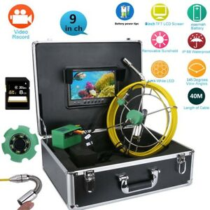 9 lcd Dvr 40m Waterproof Drain Pipe Sewer Inspection Camera System 8gb Tf Card