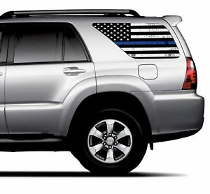 Universal Thin Blue Line American Flag Window Tint Perforated Vinyl Fits Suv