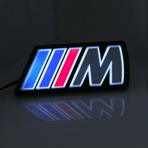 Led Tri Color M Logo Emblem Badge Light Front Grille Grill For Bmw X2 X3 X1