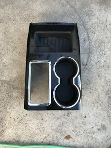 F150 Fx4 Carbon Fiber Front Floor Center Console Tray Cup Holder Oem Used