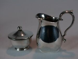 Vintage Reed Barton 964 Silverplate Creamer Pitcher And Web Sterling Bowl