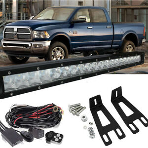 Front Bumper Mount Bracket 22 Led Light Bar 20 2003 2016 Dodge Ram 2500 3500