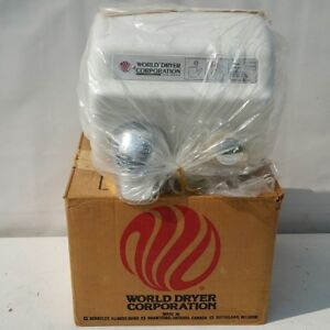 New World Dryer Commercial Restroom Bathroom Wall Air Blow Hand Dryer Model A