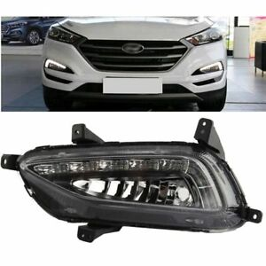 Led Daytime Running Light Drl Fog Lamp Cover For Hyundai Tucson 2015 2017 2018