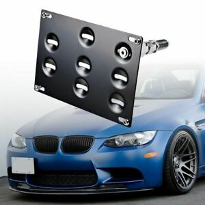 Front Tow Hook License Plate Mount Bracket For Bmw E39 E90 1 3 5 Series M3 X5 X6