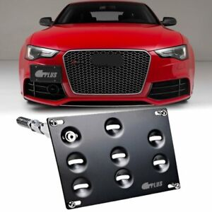 Front Bumper Tow Hook License Plate Mount Bracket Holder For Audi A4 S4 A5 S5 A7