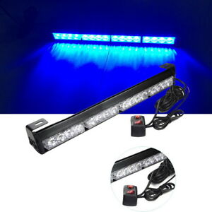 18 X 2 5 Blue Emergency Flash Strobe Lamp 16 Led Car Police Warning Light Bar