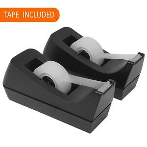 Desktop Tape Dispensers 2 Pack Bundle Includes 2 Tape Holders 2 Rolls Tape