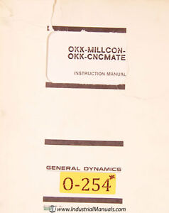Osaka Okk Millcon Iii Cncmate Ii Operations And Programming Manual 1976