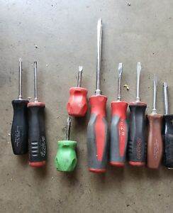 Snap On Tools 9 Pieces Screwdriver Set Shd2 shd6 shd1 And Others