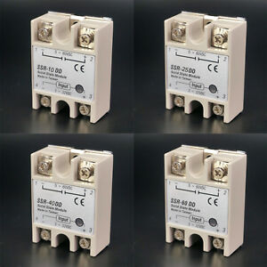 Ssr Single phase Solid State Relay 10 60a Dc dc Input 3 32vdc Load 5 60vdc