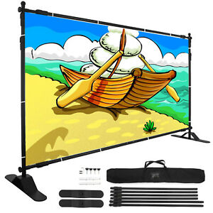 8 Banner Stand Advertising Printed Display Portable Exhibition Transport Great