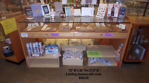 Glass Locked Jewelry Display Case