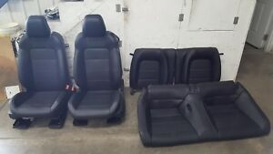 2015 2017 Ford Mustang Gt Leather Seats Front rear Heated cooled Black Oem
