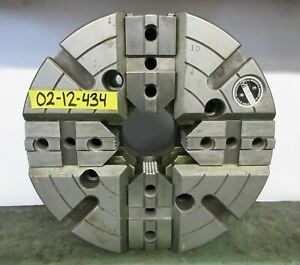 Warner Swasey 12 4 Jaw Independent Manual Chuck A2 8 Mount M 1608c