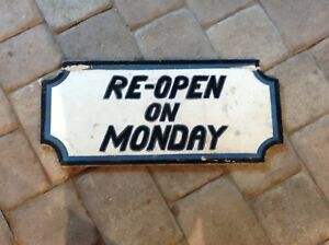 Vintage Wood 2 Sided Open closed Sign Store Business Door Window Sign 22 x10 x1