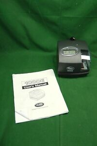 Lathem 1000e Time Stamp Clock W ac Adapter User Manual 1213