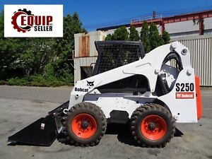 Bobcat S250 Skid Steer Loader Kubota Diesel Aux Hydraulics High Flow