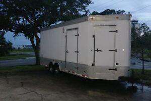 Very Custom Enclosed Car Trailer Vending Inflatables 26 Cargo Trailer loaded