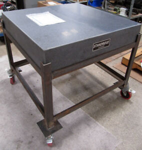 Standridge 36 x36 Granite Surface Plate Inspection Table 6 thick With Stand