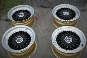 Porsche Bbs Rs012 Rs013 3 Piece Originally Gold Magnesium Wheels 930 911 944 928