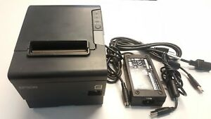 Epson M244a Usb Thermal Receipt Printer W ps 180 Power Supply Usb Cable Test