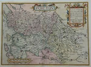Original Map Of French Region Pictou By Ortelius In 1584