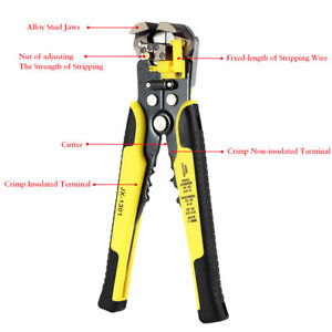 4 In 1 Professional Wire Crimper Pliers Ratcheting Terminal Crimping Tool Set