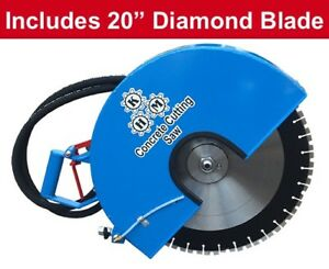 Hydraulic Concrete Cutting Handsaw 20 diamond Blade Included