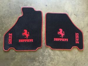 Ferrari F430 Custom Car Floor Mats Red Logos And Edging Top Quality