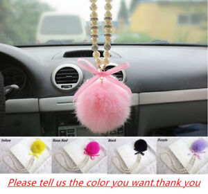 Plush Car Rear View Mirror Pendant Interior Decor Accessories Hanging Ornament