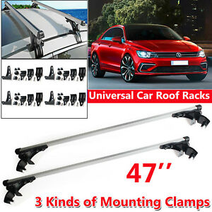 For Volkswagen Jetta Passat Eurovan Fox 120cm Car Roof Rack Cross Bar Pair