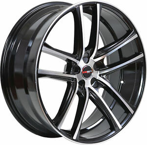4 Gwg Wheels 20 Inch Black Machined Zero Rims Fits Nissan Maxima Se 2002 2008