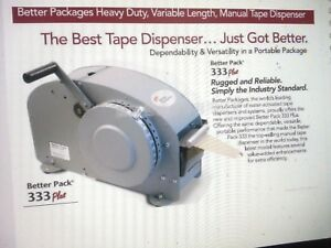 New Better Pack Gummed Tape Dispenser 333 Plus Combo 25 Cases Of Tape Included