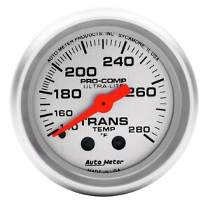 Auto Meter 4351 Ultra Lite Mechanical Transmission Temperature Gauge