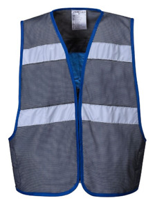 New Portwest Cv01 Cooling Vest 2 Silver Reflective Tape 50 Upf Rated Fabric